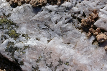 A seam of quartz in the red stone of the Cairngorms.