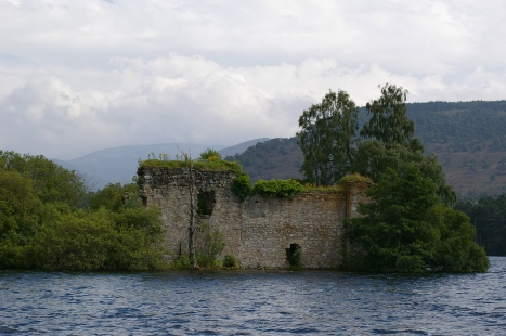 The little ruined castle sitting off the banks of Loch nan-Eilann in the Rothiemurchus Estate.